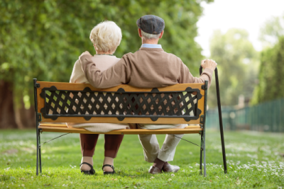 Older Couple on Bench - Fairless Hill, PA - Premier Personal Care